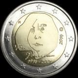Suomi 2014 2 € Tove Jansson UNC