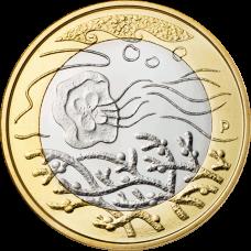 Suomi 2014 5 € Pohjolan luonto Vedet UNC