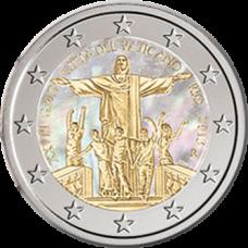 Vatikaani 2013 2 € 28. Maailman nuorten päivä - Rio de Janeiro Hologrammi VÄRITETTY