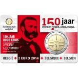 Belgia 2014 2 € Punainen Risti 150v COINCARD