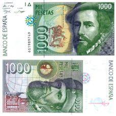 Espanja 1992 1000 Pesetas P163 UNC