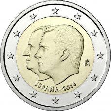 Espanja 2014 2 € Felipe IV UNC