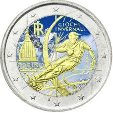 Italia 2006 2 € Torinon olympialaiset VÄRITETTY