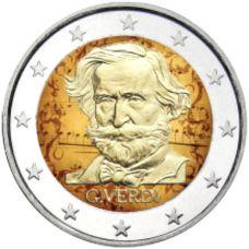 Italia 2013 2 € Giuseppe Verdi #2 VÄRITETTY