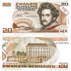 Itävalta 1986 20 Schilling P148 UNC