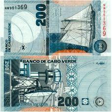 Kap Verde 2005 200 Escudo P68a UNC