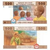 Keski-Afrikka 2002 500 Frangia P306M UNC