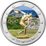 Kreikka 2004 2 €  Ateenan olympialaiset VÄRITETTY