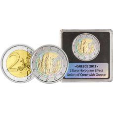 Kreikka 2013 2 € Kreeta Hologrammi VÄRITETTY