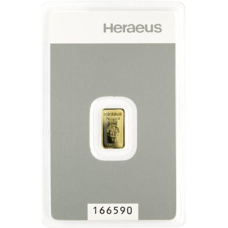 Kultalaatta 1 gramma Argor-Heraus 9999 KULTA