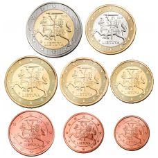 Liettua 2015 1 c - 2 € Irtokolikot UNC