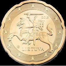Liettua 2015 20 c UNC