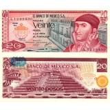 Meksiko 1977 20 Pesos P64d UNC