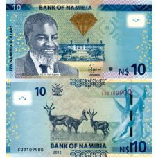 Namibia 2012 10 Dollars P11a UNC