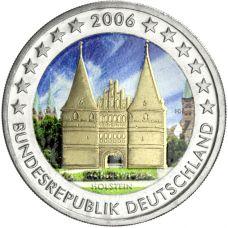 Saksa 2006 2 € Holstentor VÄRITETTY