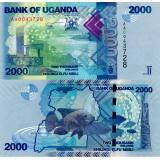 Uganda 2010 2000 Shilling P50 UNC