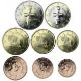 Kypros 2014 1 c – 2 € Irtokolikot UNC