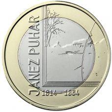 Slovenia 2014 3 € Janez Puhar UNC