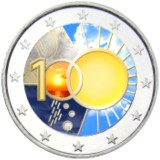 Belgia 2013 2 € Meteorologian instituutti 100 vuotta #2 VÄRITETTY