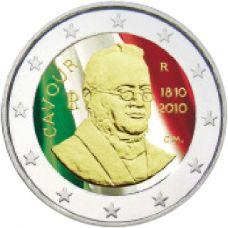 Italia 2010 2 € Cavour #2 VÄRITETTY