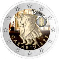 Italia 2014 2 € Carabinieri 200 vuotta VÄRITETTY
