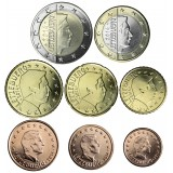 Luxemburg 2017 1 c - 2 € Irtokolikot UNC