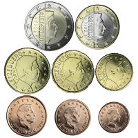 Luxemburg 2018 1 c - 2 € Irtokolikot UNC