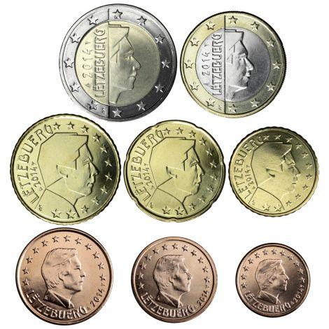Luxemburg 2021 1 c - 2 € Irtokolikot UNC