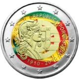 Portugali 2010 2 € Portugalin tasavalta 100 vuotta VÄRITETTY
