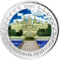 Saksa 2007 2 € Schwerinin linna VÄRITETTY