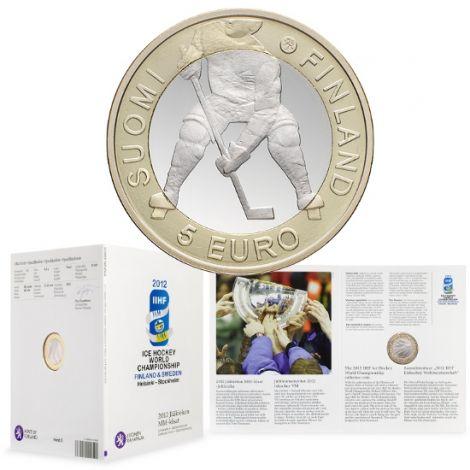 Suomi 2012 5 € Jääkiekko PROOF