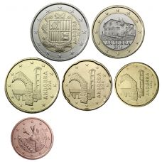 Andorra 2014 5 c - 2 € Irtokolikot UNC