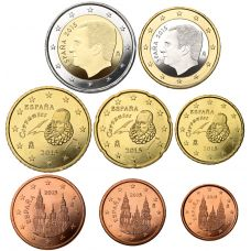 Espanja 2015 1 c – 2 € Irtokolikot UNC