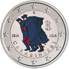 Italia 2014 2 € Carabinieri 200 vuotta #2 VÄRITETTY