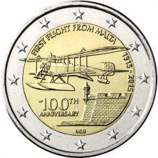 Malta 2015 2 € Ensimmäinen lento 100v UNC