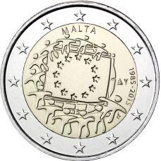 Malta 2015 2 € EU:n lippu 30v UNC