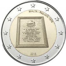 Malta 2015 2 € Tasavalta 1974 UNC
