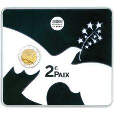 Ranska 2015 2 € Rauha Euroopassa 70 vuotta COINCARD