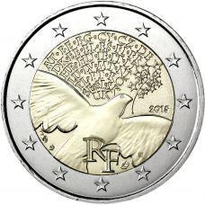 Ranska 2015 2 € Rauha Euroopassa 70 vuotta UNC