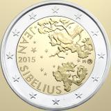 Suomi 2015 2 € Jean Sibelius UNC