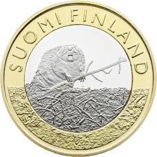 Suomi 2015 5 € Maakuntien eläimet Satakunta UNC