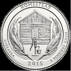 "USA 2015 $0,25 Nebraska Homestead National Monument of America ""D"" UNC"