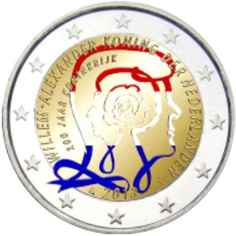 Alankomaat 2013 2 € Kuningaskunta 200 vuotta - Willem-Alexander I #2 VÄRITETTY