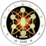 Belgia 2006 2 € Atomium VÄRITETTY