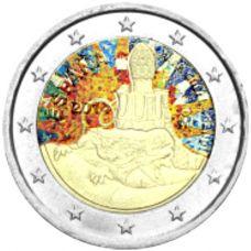 Espanja 2014 2 € Antonio Gaudi #2 VÄRITETTY