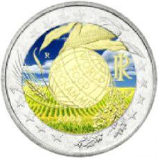 Italia 2004 2 € Maailman elintarvikeohjelma VÄRITETTY