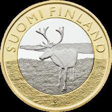 Suomi 2015 5 € Maakuntien eläimet Lappi UNC