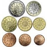 Portugali 2010 1 c – 2 € Irtokolikot UNC