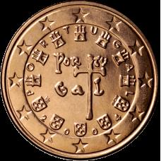 Portugali 2004 5 c UNC