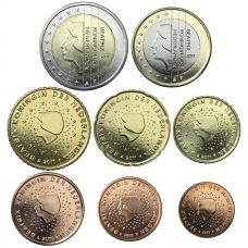 Alankomaat 2011 1 c - 2 € Irtokolikot UNC